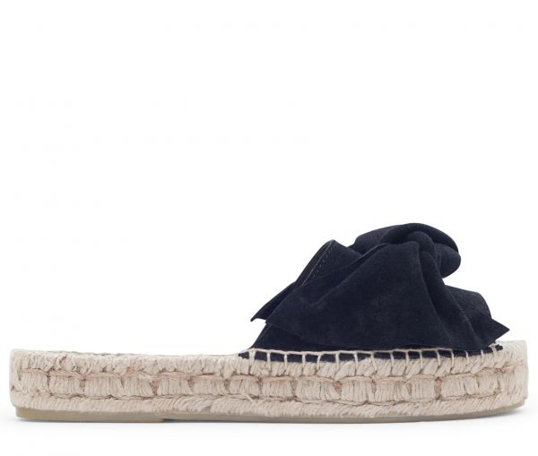 Carmen Suede Black Slip On