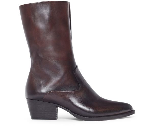 Womens Cary Brown Boot Side