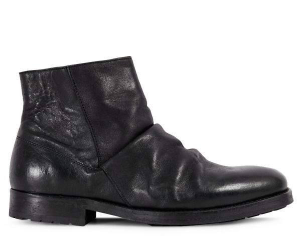 Mens Valo Black Zip Boot Side