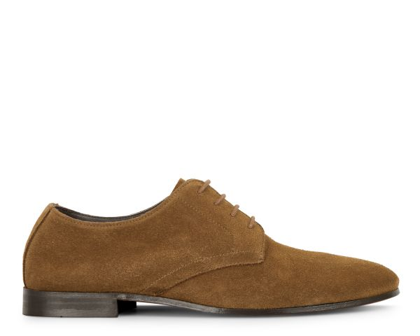 Hudson Mens Attock Suede Tobacco Derby Shoe Side