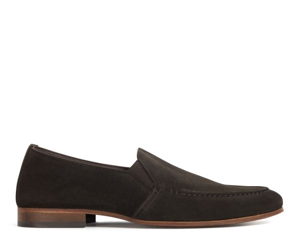 Hudson Mens Milton Suede Brown Loafer Side