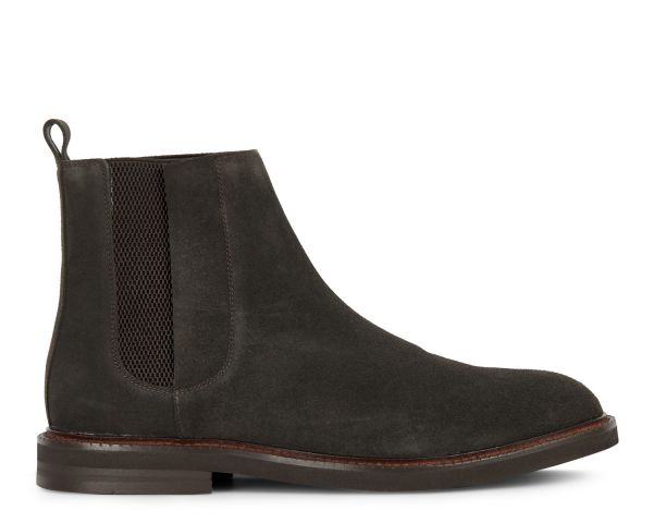Hudson Mens Finley Suede Brown Chelsea Boot Side
