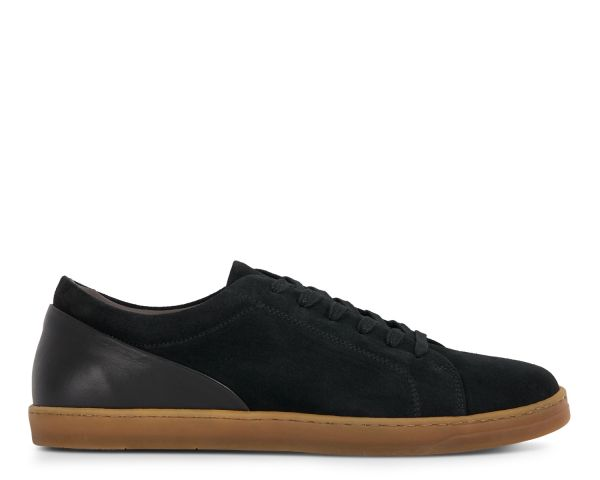 Hudson London Mens Brackla Suede Black Sneaker Side