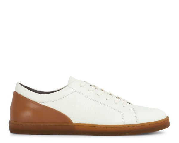 Hudson London Mens Brackla Leather White Sneaker Side