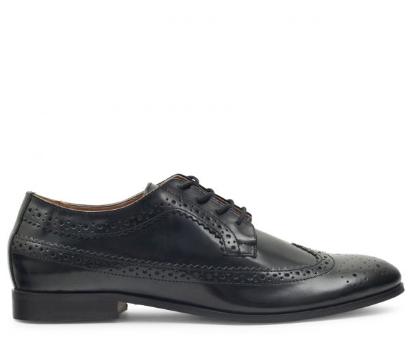 Crowthorne Hi Shine Black Brogue Shoe