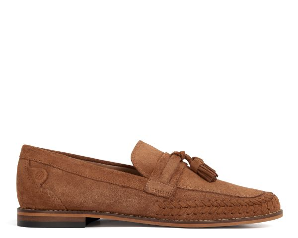 H by Hudson Mens Guilder Suede Tan Loafer Side