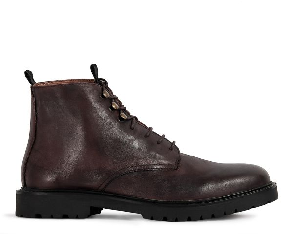 Mens Hastings Brown Boot Side