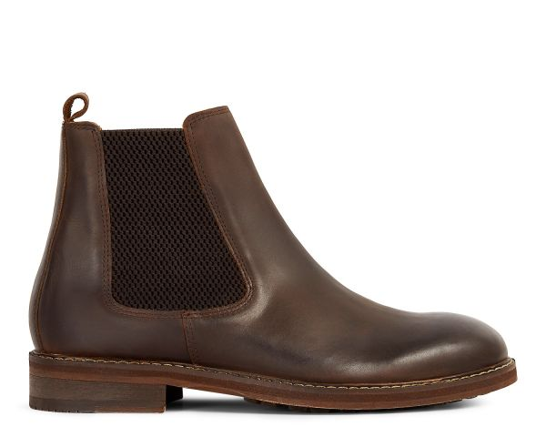 Mens Hewitt Brown Chelsea Boot Side
