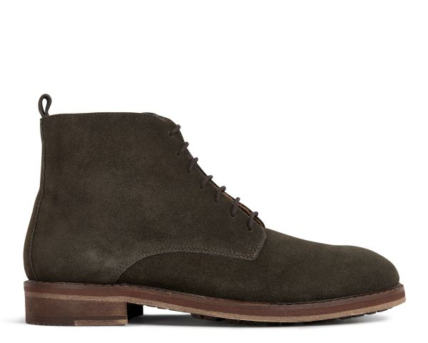 Hudson Mens Rowan Suede Brown Tanker Boot Side