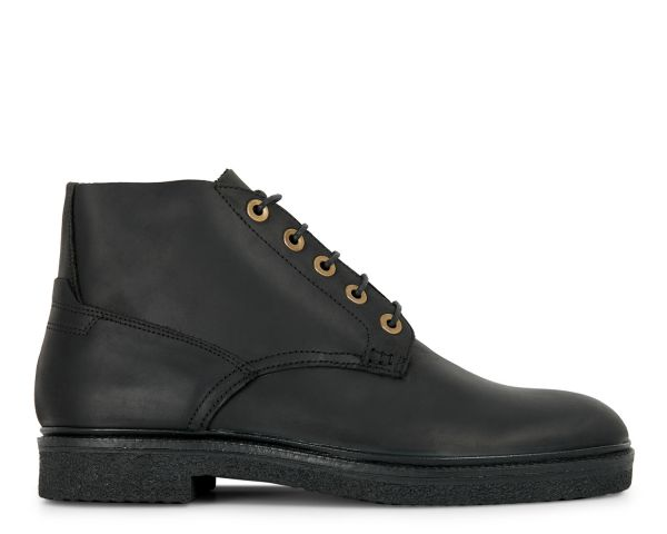 Mens Briggs Black Chukka Boot Side