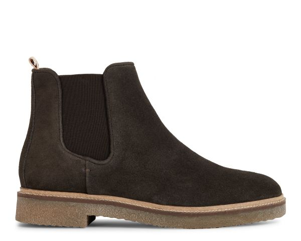 Hudson London Mens Ferguson Suede Brown Chelsea Boot Side