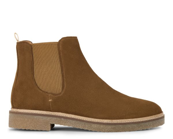 Hudson London Mens Ferguson Suede Caramel Chelsea Boot Side