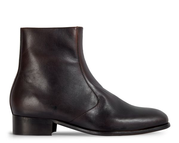 Hudson London Mens Lumin Brown Zip Boot Side
