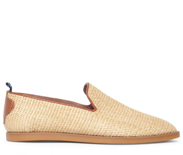 H by Hudson Mens Parker Raffia Natural Loafer Side