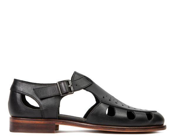 Hudson Womens Sherbert Black Sandal Side