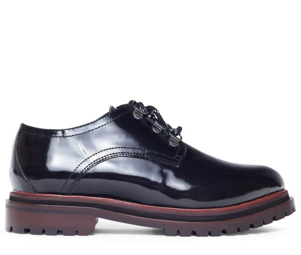 Wenlock Patent Black Shoe Side Shot