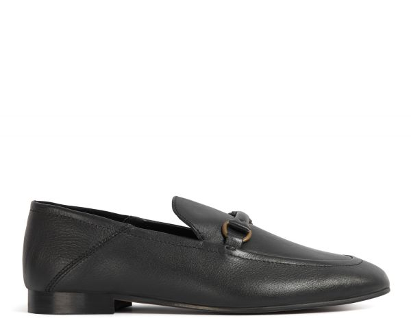 Hudson Womens Arianna Black Loafer Side